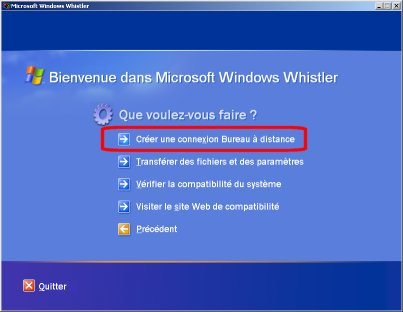 Installation de l 39 affichage distance du bureau xp - Connexion bureau a distance windows xp ...